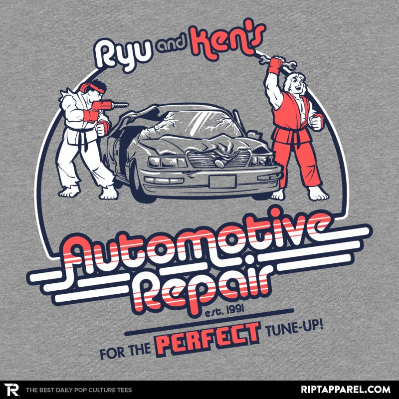 Ryu and Ken's Automotive Repair Exclusive - RIPT Apparel