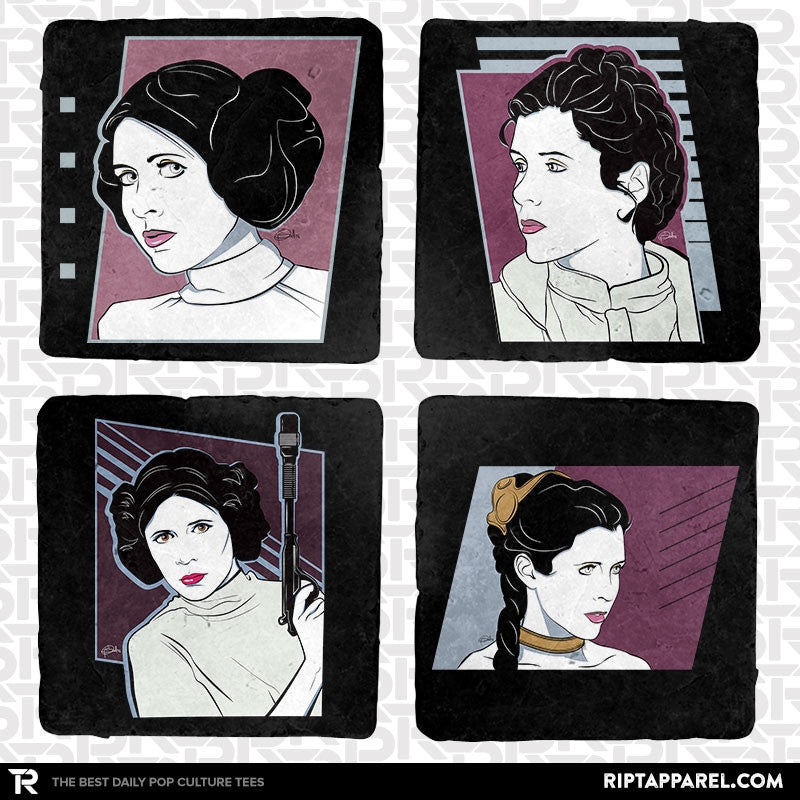 Our Princess 4-Coaster Set Exclusive - RIPT Apparel