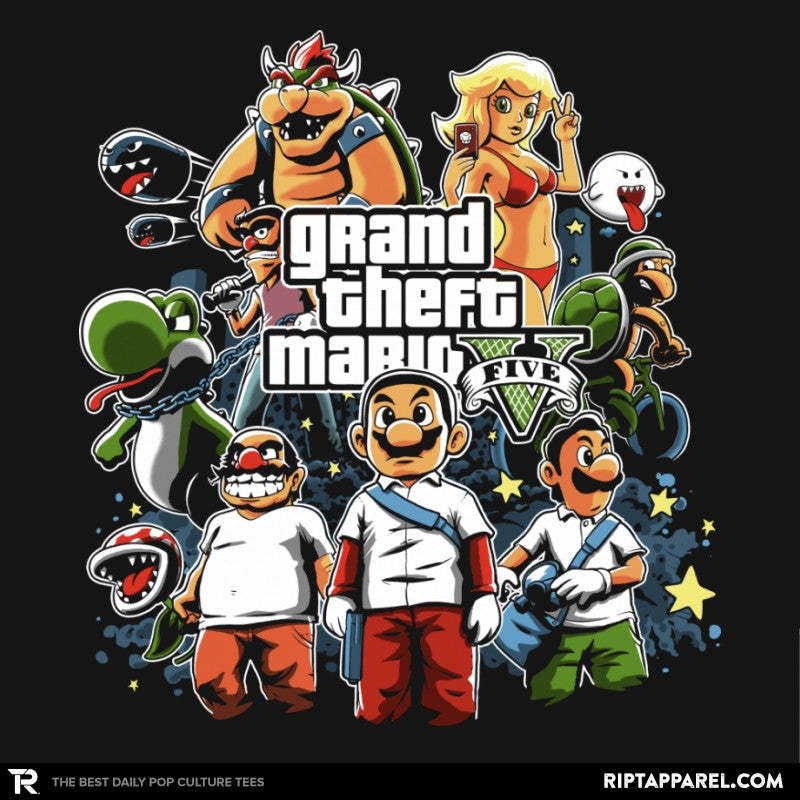 Grand Theft Mario V Reprint - RIPT Apparel