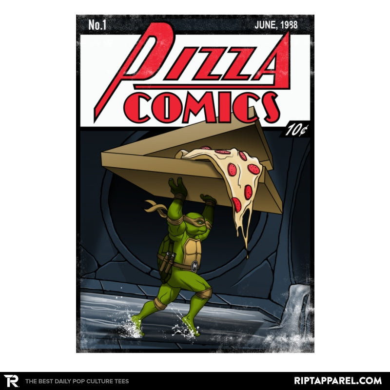 Pizza Comics - Featuring Michelangelo - Collection Image - RIPT Apparel