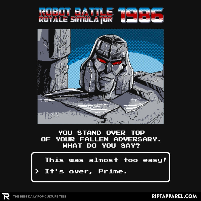 Robot Battle Royale Simulator 1986 Exclusive - Collection Image - RIPT Apparel