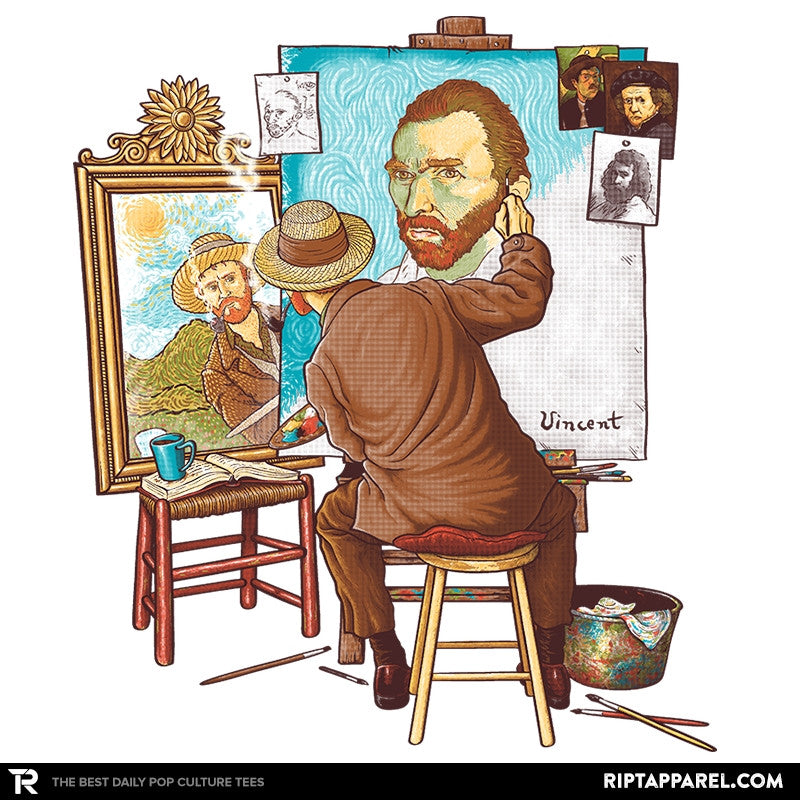 Van Gogh Triple Portrait - Pop Impressionism - Collection Image - RIPT Apparel