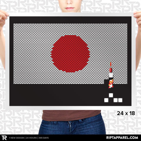 Japan Mario Bricks Flag