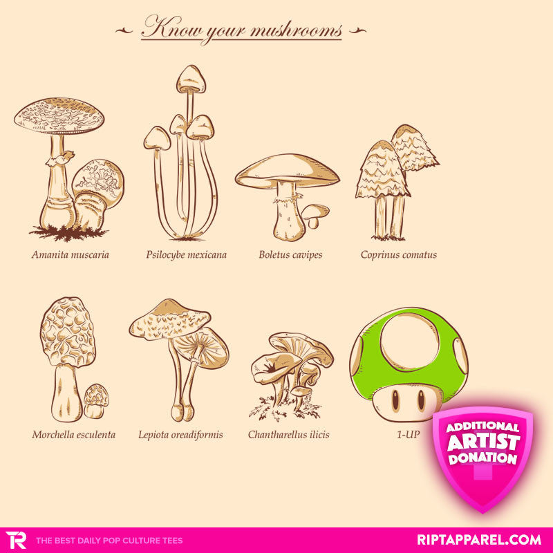 Know your mushrooms - RIPT Apparel