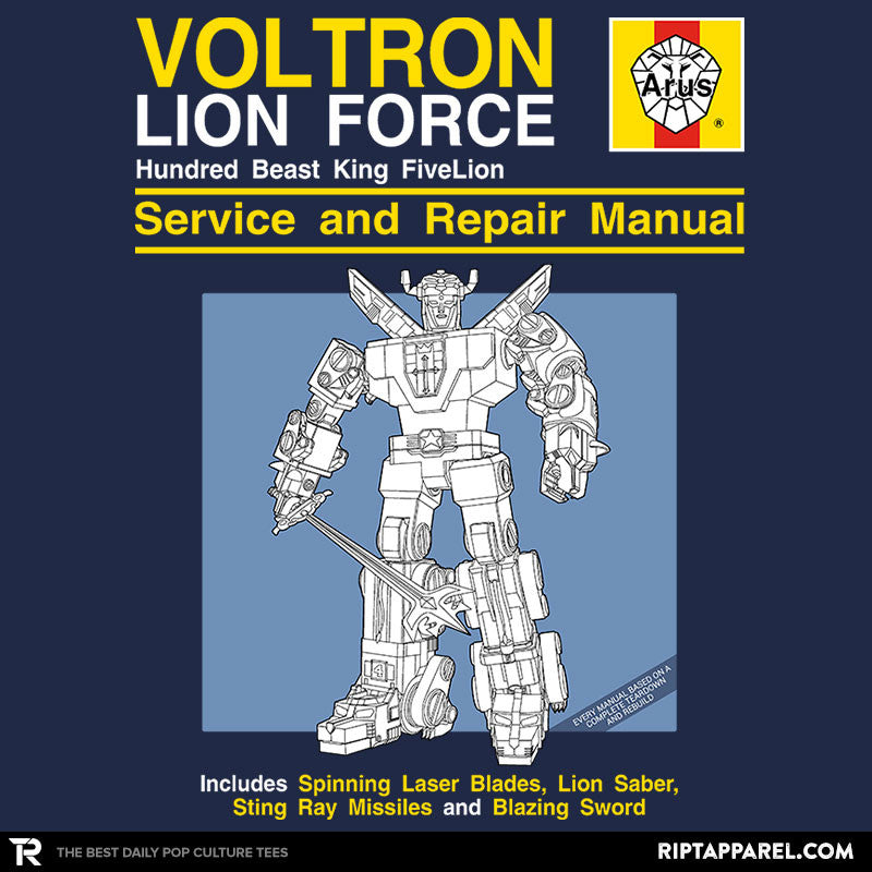 Lion Force Service and Repair Manual - Collection Image - RIPT Apparel