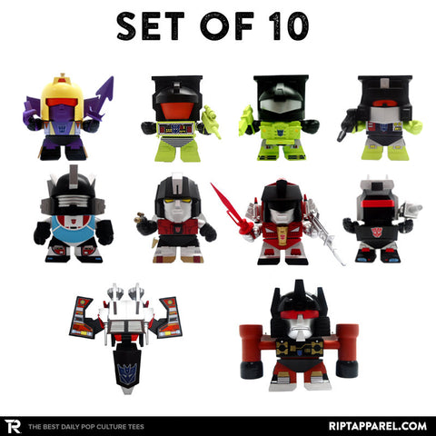 Complete Set of 10 Transformers G1 3-inch vinyl figures Series 03