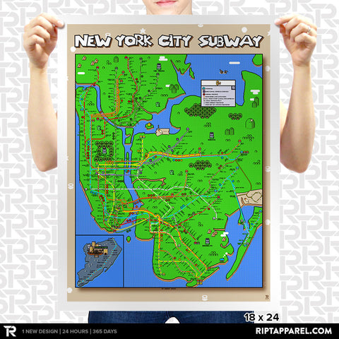 Super Mario World New York City Subway Map