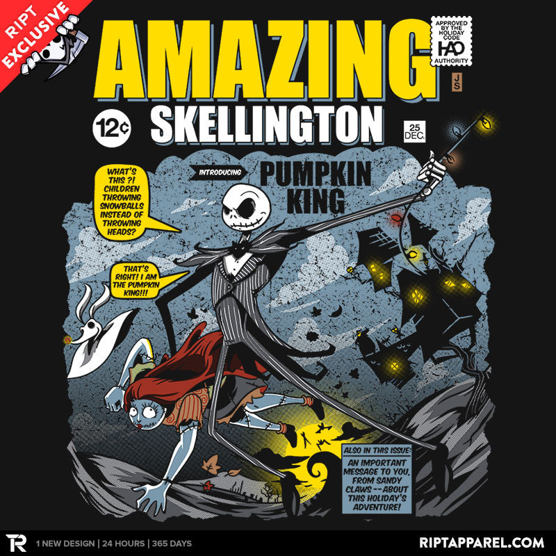 The Amazing Skellington - RIPT Apparel
