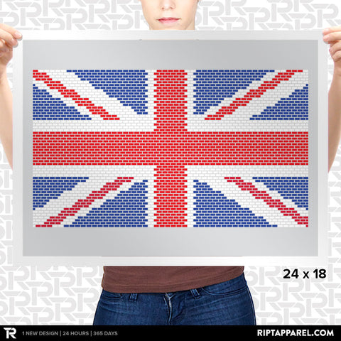 UK Union Jack Mario Bricks Flag