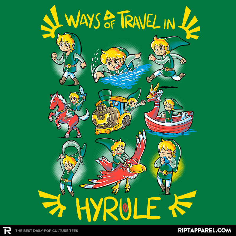 Ways of Travel in Hyrule - Collection Image - RIPT Apparel