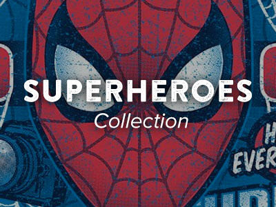 Unique superhero designs on tee shirts, hoodies, tanks and more