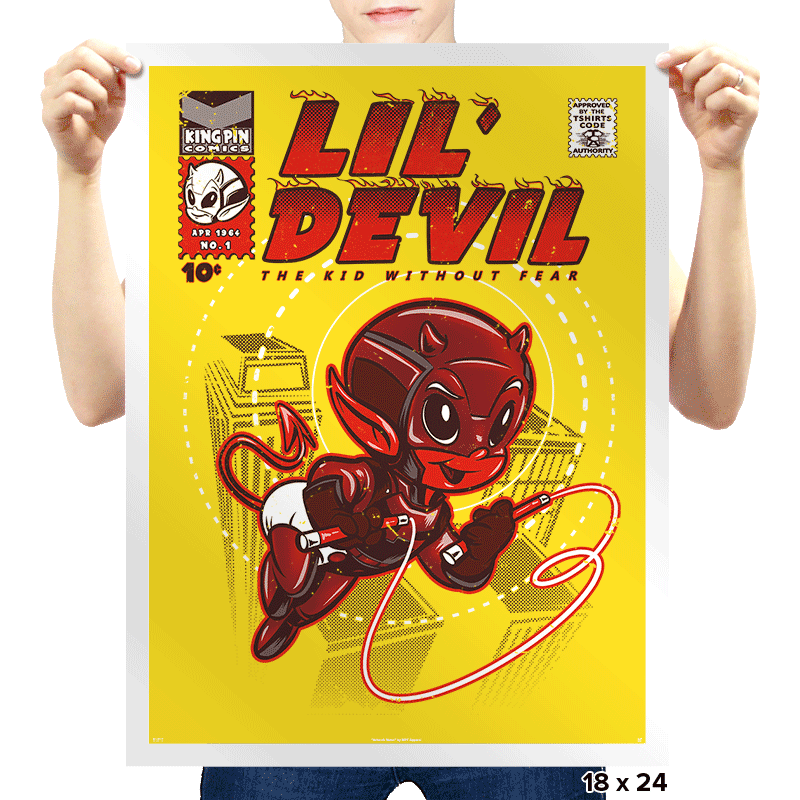Lil' Devil - Prints - Posters - RIPT Apparel