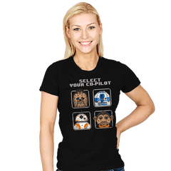 Select Your Co-Pilot - Womens - Juniors - T-Shirts - RIPT Apparel