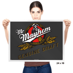 Mayhem Genuine Draft - Prints - Posters - RIPT Apparel