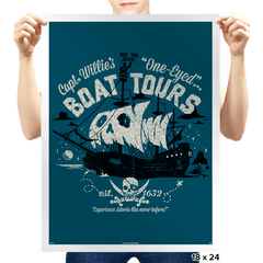 One-Eyed Boat Tours - Prints - Posters - RIPT Apparel