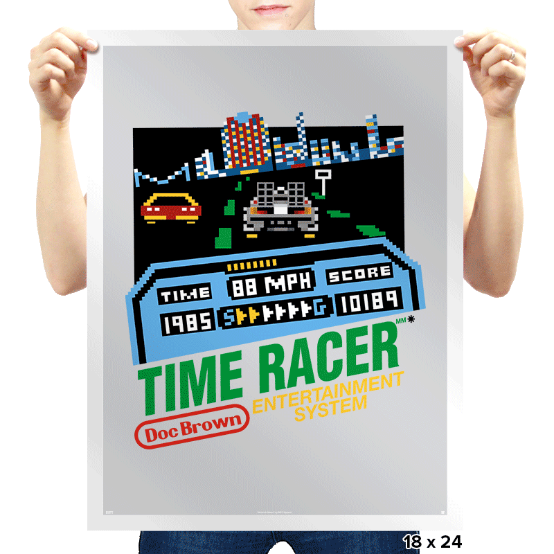 Time Racer - Prints - Posters - RIPT Apparel