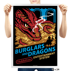Burglars and Dragons - Prints - Posters - RIPT Apparel