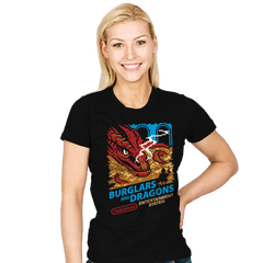 Burglars and Dragons - Womens - T-Shirts - RIPT Apparel