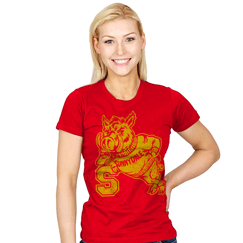 Go Hogs - Womens - T-Shirts - RIPT Apparel