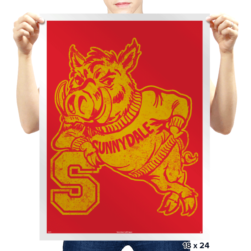 Go Hogs - Prints - Posters - RIPT Apparel
