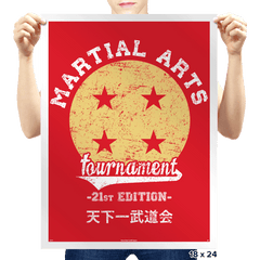 Martial Arts Tournament - Prints - Posters - RIPT Apparel