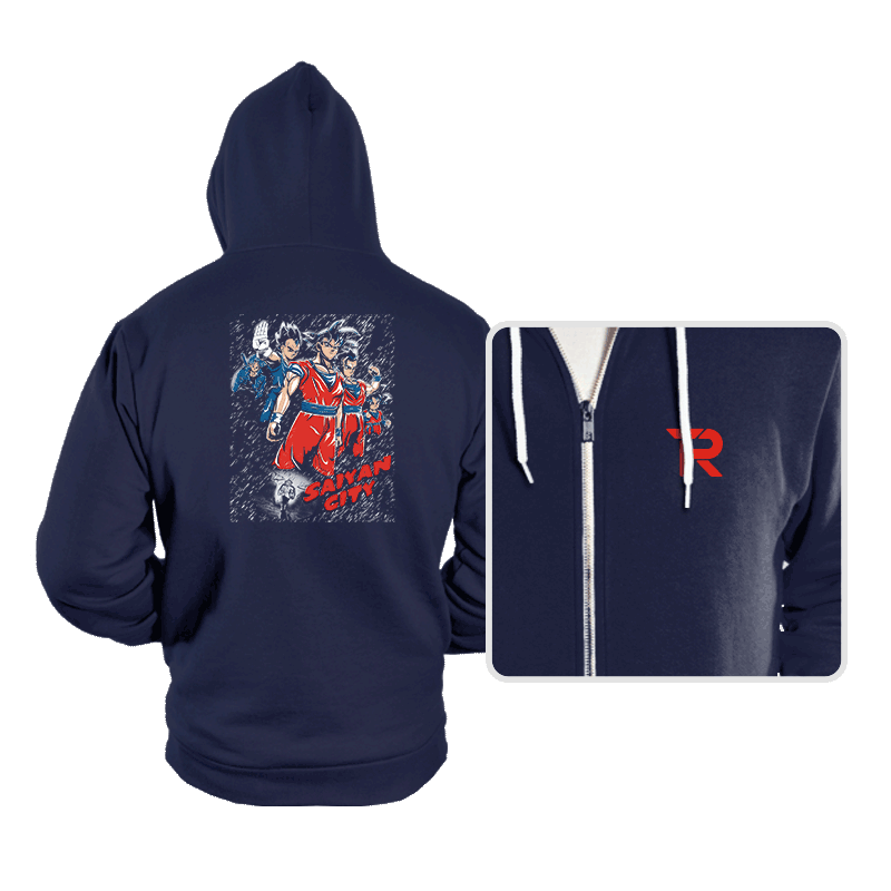 Saiyan City - Hoodies - Hoodies - RIPT Apparel