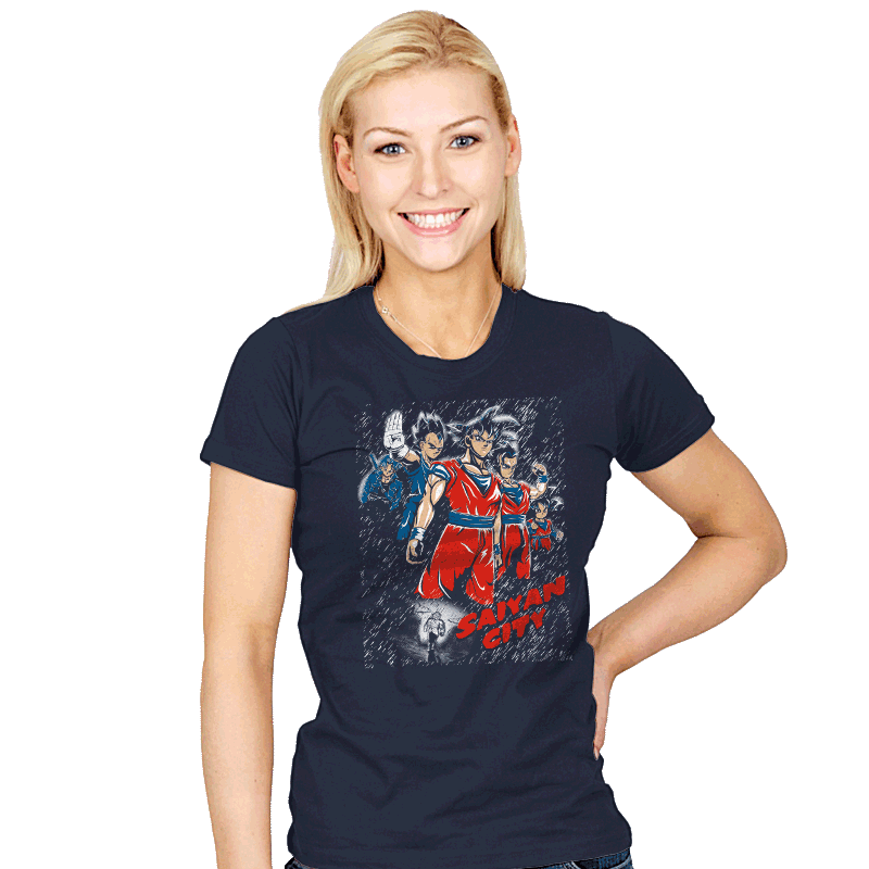 Saiyan City - Womens - T-Shirts - RIPT Apparel