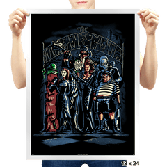 Arkham Family - Prints - Posters - RIPT Apparel