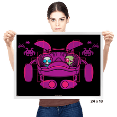 Space Zimvaders - Prints - Posters - RIPT Apparel