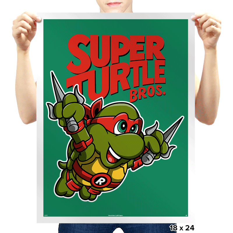 Super Turtle Bros. - Prints - Posters - RIPT Apparel
