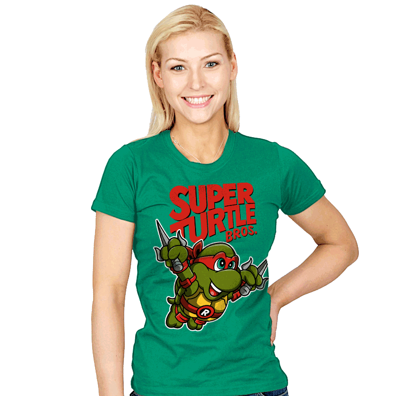 Super Turtle Bros. - Womens - T-Shirts - RIPT Apparel