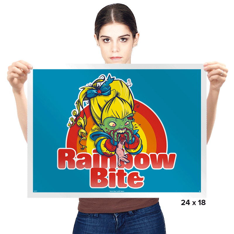 Rainbow Bite - Prints - Posters - RIPT Apparel