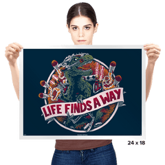 Life Finds A Way - Prints - Posters - RIPT Apparel