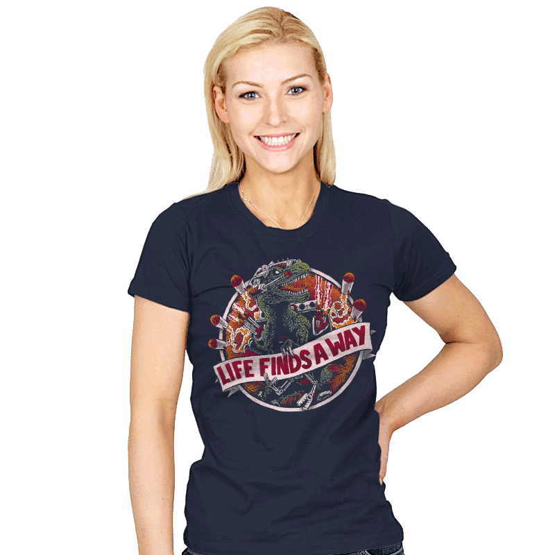 Life Finds A Way - Womens - T-Shirts - RIPT Apparel