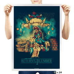 Return of the Plumber - Prints - Posters - RIPT Apparel