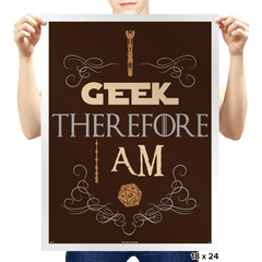 I Geek - Prints - Posters - RIPT Apparel
