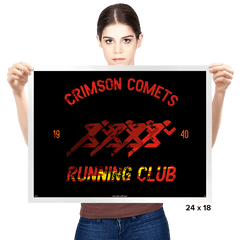 Crimson Comets - Prints - Posters - RIPT Apparel
