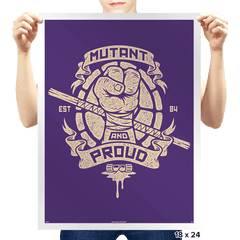 Purple and Proud! - Prints - Posters - RIPT Apparel