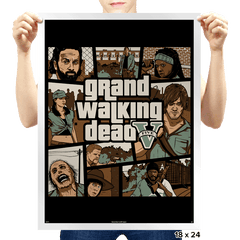 Grand Walking Dead - Prints - Posters - RIPT Apparel