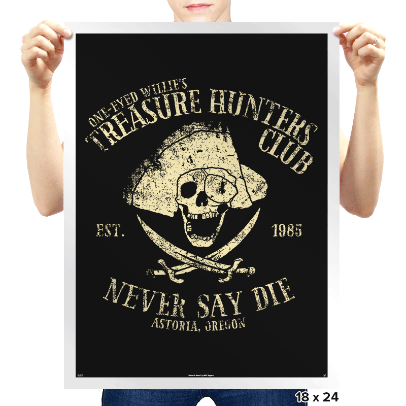 Treasure Hunters Club - Prints - Posters - RIPT Apparel