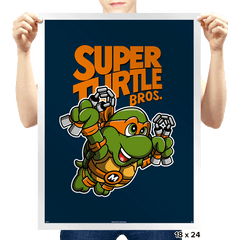 Super Mikey Bros. 3 - Prints - Posters - RIPT Apparel