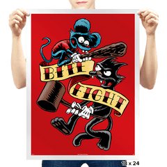 Bite and Fight - Prints - Posters - RIPT Apparel