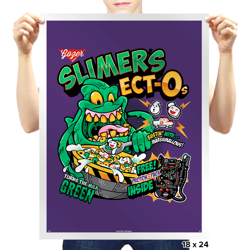 Slimer's Ect-O's Exclusive - Prints - Posters - RIPT Apparel