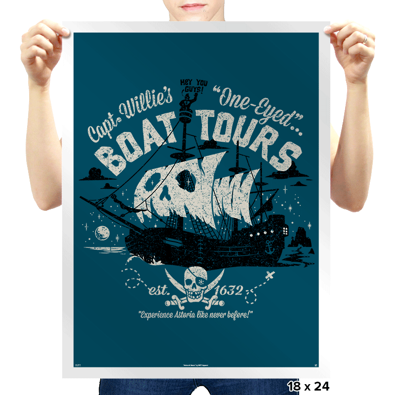One-Eyed Boat Tours Exclusive - Prints - Posters - RIPT Apparel