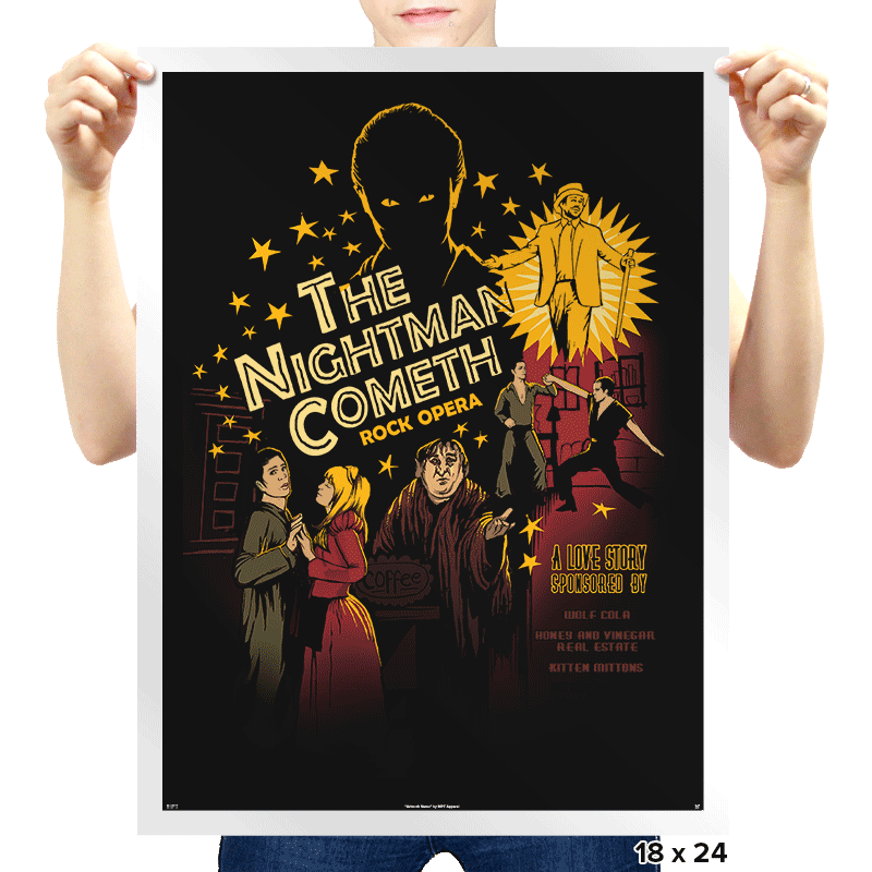 The Nightman Cometh - Prints - Posters - RIPT Apparel