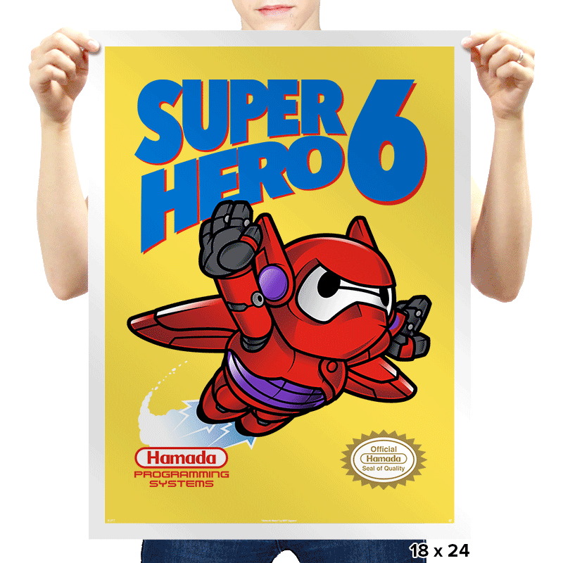 Super Hero 6 Exclusive - Prints - Posters - RIPT Apparel