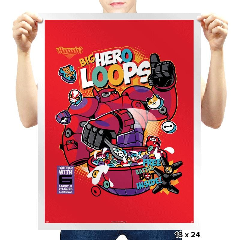 Hero Loops Cereal Exclusive - Prints - Posters - RIPT Apparel