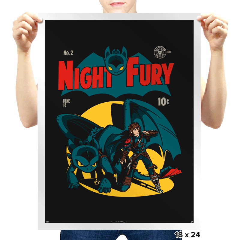 Dark Knight Fury Exclusive - Prints - Posters - RIPT Apparel