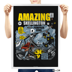 The Amazing Skellington Exclusive - Prints - Posters - RIPT Apparel
