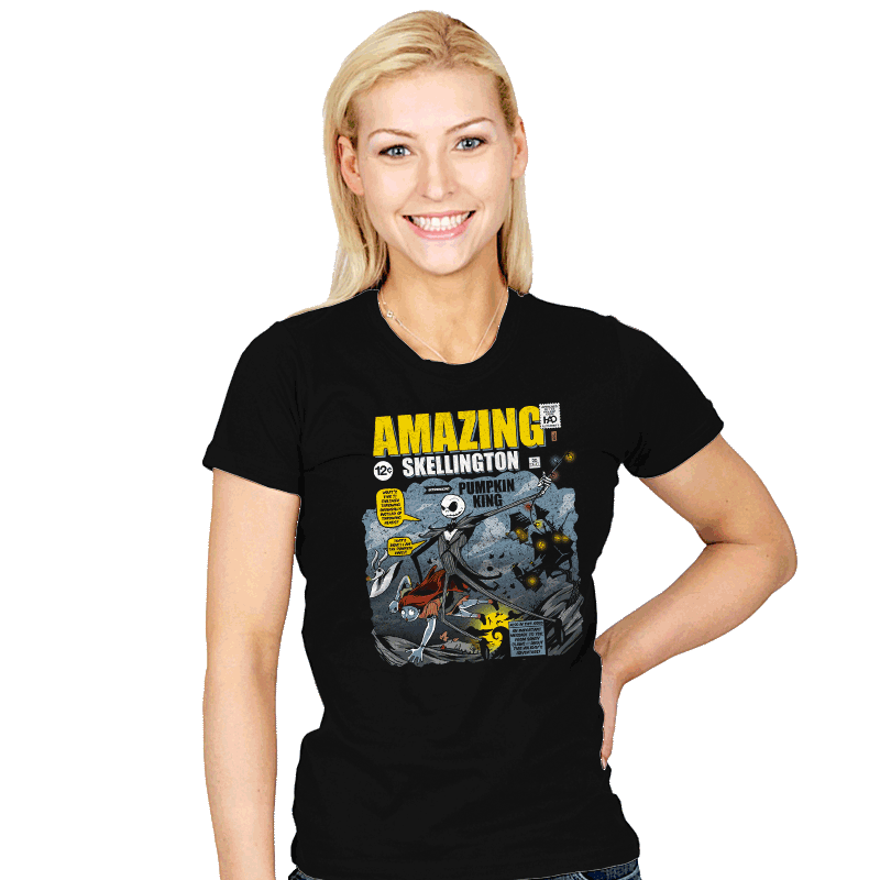 The Amazing Skellington Exclusive - Womens - T-Shirts - RIPT Apparel